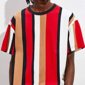 Urban Outfitters Veetical Stripe Tee Short Sleeve